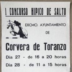 Coleccionismo deportivo: CARTEL I CONCURSO HÍPICO AYUNTAMIENTO CORVERA DE TORANZO - ALCEDA - CANTABRIA - AÑOS 80. Lote 214367768