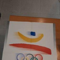 Coleccionismo deportivo: CARTEL DE LOS JUEGOS DE LA XXV OLIMPIADA (BARCELONA, 1992) (DISEÑO: JOSEP M. TRIAS) (50X70 CM). Lote 214369813