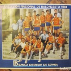 Coleccionismo deportivo: POSTER SELECCIÓN ESPAÑOLA BALONCESTO 1988. Lote 214805567