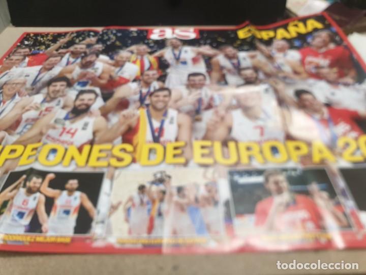 POSTER ..DE LA SELECCIÓN ESPAÑOLA DE BALONCESTO......2015...CAMPEONES DE EUROPA.. (Coleccionismo Deportivo - Carteles otros Deportes)