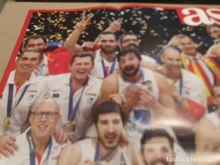 Coleccionismo deportivo: POSTER ..DE LA SELECCIÓN ESPAÑOLA DE BALONCESTO......2015...CAMPEONES DE EUROPA.. - Foto 2 - 215369917