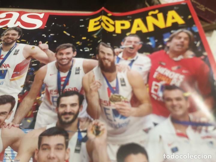 Coleccionismo deportivo: POSTER ..DE LA SELECCIÓN ESPAÑOLA DE BALONCESTO......2015...CAMPEONES DE EUROPA.. - Foto 3 - 215369917