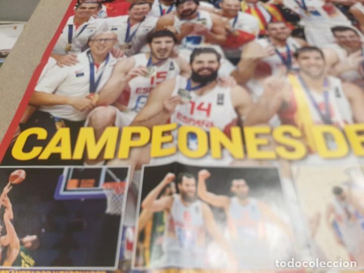 Coleccionismo deportivo: POSTER ..DE LA SELECCIÓN ESPAÑOLA DE BALONCESTO......2015...CAMPEONES DE EUROPA.. - Foto 4 - 215369917