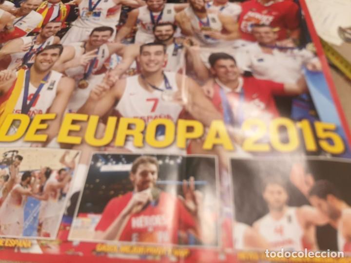 Coleccionismo deportivo: POSTER ..DE LA SELECCIÓN ESPAÑOLA DE BALONCESTO......2015...CAMPEONES DE EUROPA.. - Foto 5 - 215369917