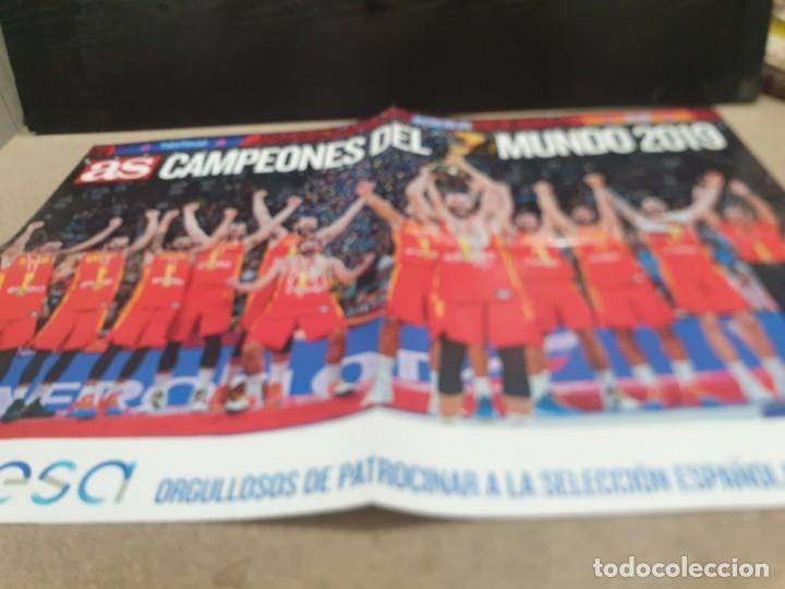 POSTER ..DE LA SELECCIÓN ESPAÑOLA DE BALONCESTO......2019.....CAMPEONES DEL MUNDO..... (Coleccionismo Deportivo - Carteles otros Deportes)