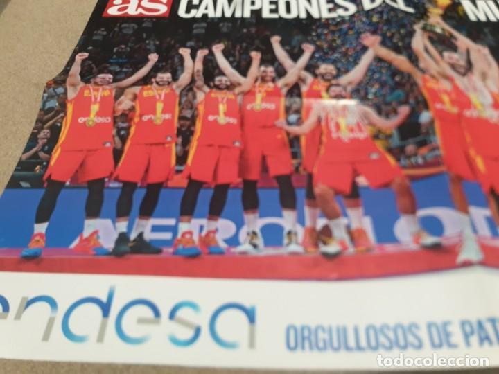 Coleccionismo deportivo: POSTER ..DE LA SELECCIÓN ESPAÑOLA DE BALONCESTO......2019.....CAMPEONES DEL MUNDO..... - Foto 4 - 215370363