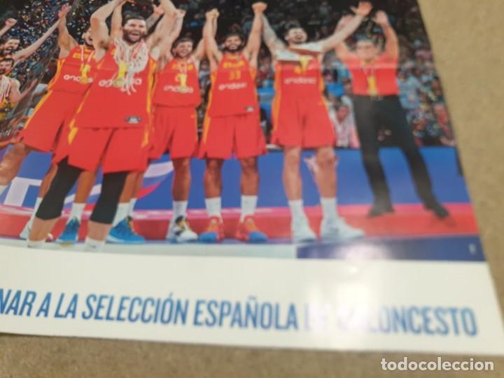 Coleccionismo deportivo: POSTER ..DE LA SELECCIÓN ESPAÑOLA DE BALONCESTO......2019.....CAMPEONES DEL MUNDO..... - Foto 5 - 215370363