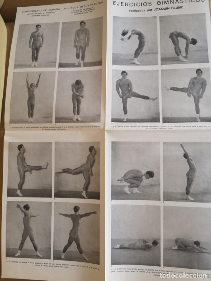 Coleccionismo deportivo: CARTEL JOAQUÍN BLUME 1958 EJERCICIOS GIMNASTICOS MUY BIEN CONSERVADO - Foto 2 - 215412425