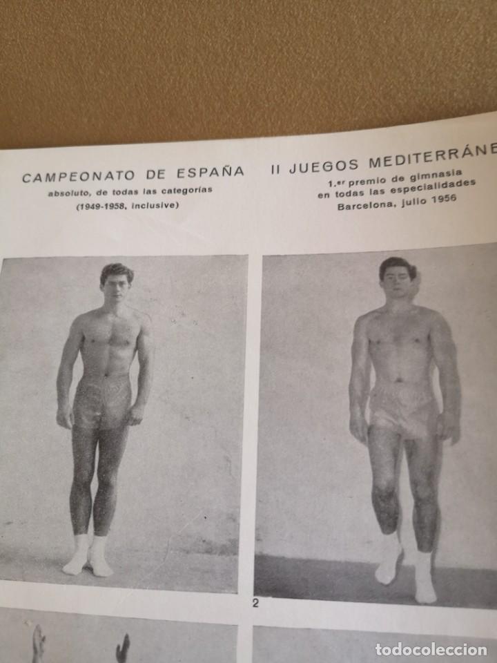 Coleccionismo deportivo: CARTEL JOAQUÍN BLUME 1958 EJERCICIOS GIMNASTICOS MUY BIEN CONSERVADO - Foto 4 - 215412425