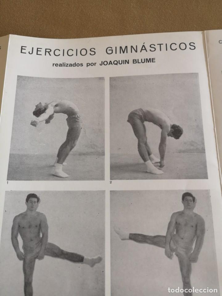 Coleccionismo deportivo: CARTEL JOAQUÍN BLUME 1958 EJERCICIOS GIMNASTICOS MUY BIEN CONSERVADO - Foto 5 - 215412425