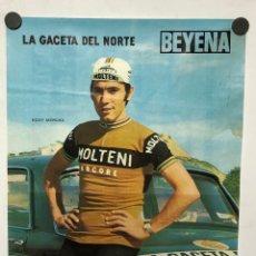 Coleccionismo deportivo: EDDY MERCKS (EQUIPO CICLISTA MOLTENI). POSTER DE LOS AÑOS 70. LA GACETA DEL NORTE - BEYENA.. Lote 217125631