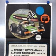 Coleccionismo deportivo: CARTEL FORMULA 1 - AMERICAN GRAND PRIX - EMERSON FITTIPALDI - 1972 - LOTUS. Lote 218025906
