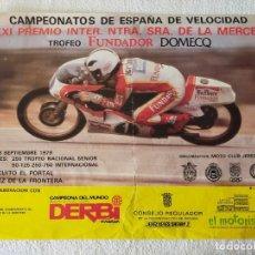 Coleccionismo deportivo: CARTEL (75X57). CAMPEONATOS ESPAÑA VELOCIDAD 1979 - ANGEL NIETO, BULTACO - EL PORTAL (JEREZ). Lote 218350225