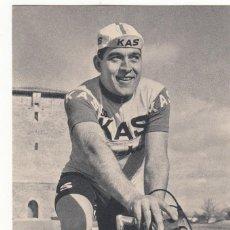 Coleccionismo deportivo: S.D. KAS -CICLISTA - ANTONIO GOMEZ MORAL 1967 / FOTO ARQUE - FOURNIER. Lote 219083370