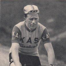 Coleccionismo deportivo: S.D. KAS - CICLISTA - FRANCISCO GABICAGOGEASCOA 1965 / FOTO ARQUE - FOURNIER. Lote 219083485