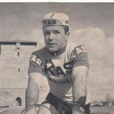 Coleccionismo deportivo: S.D. KAS - CICLISTA - SEBASTIAN ELORZA 1967 / FOTO ARQUE - FOURNIER. Lote 219083525