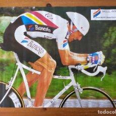 Coleccionismo deportivo: POSTER / CARTEL (67,5X47,5) CICLISMO: MIGUEL INDURAIN - ASOCIACIÓN DEPORTIVA BANESTO - 1990. Lote 219179187
