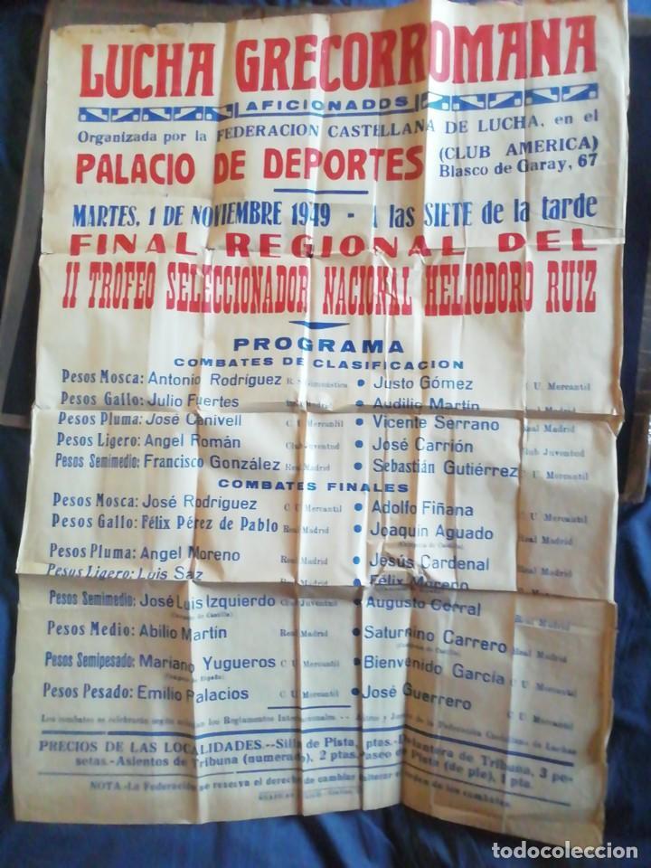 CARTEL LUCHA GRECORROMANA. 1949. CLUB AMÉRICA. BLASCO DE GARAY 86 X62 CM (Coleccionismo Deportivo - Carteles otros Deportes)