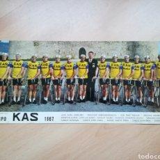 Coleccionismo deportivo: EQUIPO KAS 1967. POSTER CARTÓN.. Lote 219269480