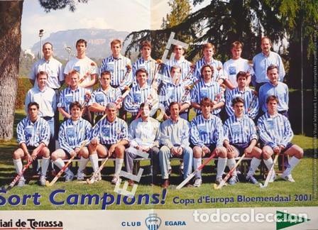 CARTEL DEL CLUB EGARA - SORT CAMPIONS - COPA D'EUROPA BLOEMENDAAL ANY 2001 - (Coleccionismo Deportivo - Carteles otros Deportes)