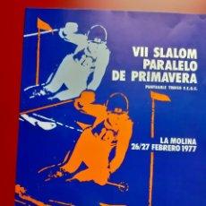 """Coleccionismo deportivo: 3 CARTELES ESQUI """"SLALOM PARALELO DE PRIMAVERA"""" LA MOLINA AÑOS 1977, 1978,1979. Lote 222315602"""