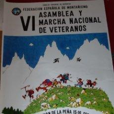 Coleccionismo deportivo: CARTEL VI MARCHA NACIONAL DE VETERANOS - 1979 (MONTAÑEROS DE ARAGON). Lote 222568291