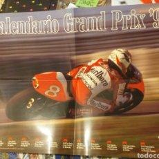 Coleccionismo deportivo: CALENDARIO GRAND PRIX 93 MOTOGP CRIVILLE. Lote 222599532