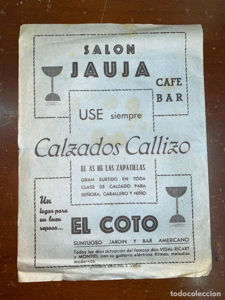 Coleccionismo deportivo: ZARAGOZA. 1946. PROGRAMA. BOXEO FRONTÓN CINEMA. PUBLICIDAD. 21,50X31,50 CM ABIERTO. - Foto 3 - 223501080