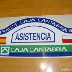 Coleccionismo deportivo: ADHESIVO XXI RALLYE CAJA CANTABRIA 1999 ASISTENCIA PEGATINA GRAN FORMATO 42 X 21 CM.. Lote 224122356
