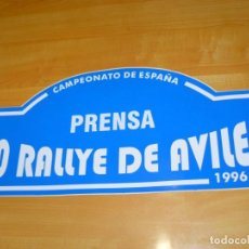 Coleccionismo deportivo: ADHESIVO 20 RALLYE DE AVILES 1996 PRENSA CAMPEONATO DE ESPAÑA PEGATINA GRAN FORMATO 44 X 19 CM.. Lote 243658530