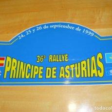 Coleccionismo deportivo: ADHESIVO 36º RALLYE PRINCIPE DE ASTURIAS 24,25,26 SEPTIEMBRE 1999 PEGATINA GRAN FORMATO 43 X 22 CM.. Lote 224127670