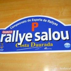 Coleccionismo deportivo: ADHESIVO 5º RALLYE SALOU COSTA DAURADA CAMPEONATO ESPAÑA RALLYES P PEGATINA GRAN FORMATO 43 X 21 CM.. Lote 224127890