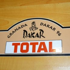 Coleccionismo deportivo: ADHESIVO RALLYE GRANADA - DAKAR 96 TOTAL PEGATINA 20 X 10 CM. RALLY PARIS DAKAR TROPHY. Lote 224130531