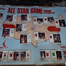 Coleccionismo deportivo: POSTER GIGANTES ALL STAR GAME CHICAGO 6 - 7 FEBRERO 1988. Lote 225183938