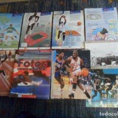 Coleccionismo deportivo: 58 FOTOS OLÍMPICAS Y CARPETA CON 2 DE MICHAEL JORDAN LA VANGUARDIA Y 20 EL PAÍS BARCELONA 92. RARAS.. Lote 227678785