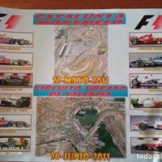 Coleccionismo deportivo: POSTER FORMULA 1 MUNDIAL 2011 GRAN PREMIO DE CATALUNYA MONTMELO Y VALENCIA. VER DESCRIPCION. Lote 229821780