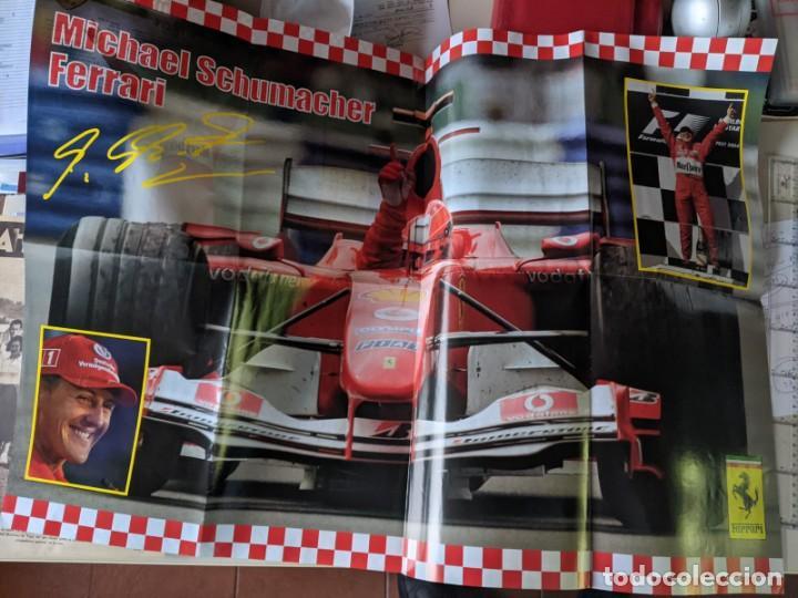 MICHEL SCHUMACHER 2004 - POSTER GIGANTE DE 60 X 80 - FERRRARI SIMPLEMENTE EL MEJOR - TOP F1 (Coleccionismo Deportivo - Carteles otros Deportes)