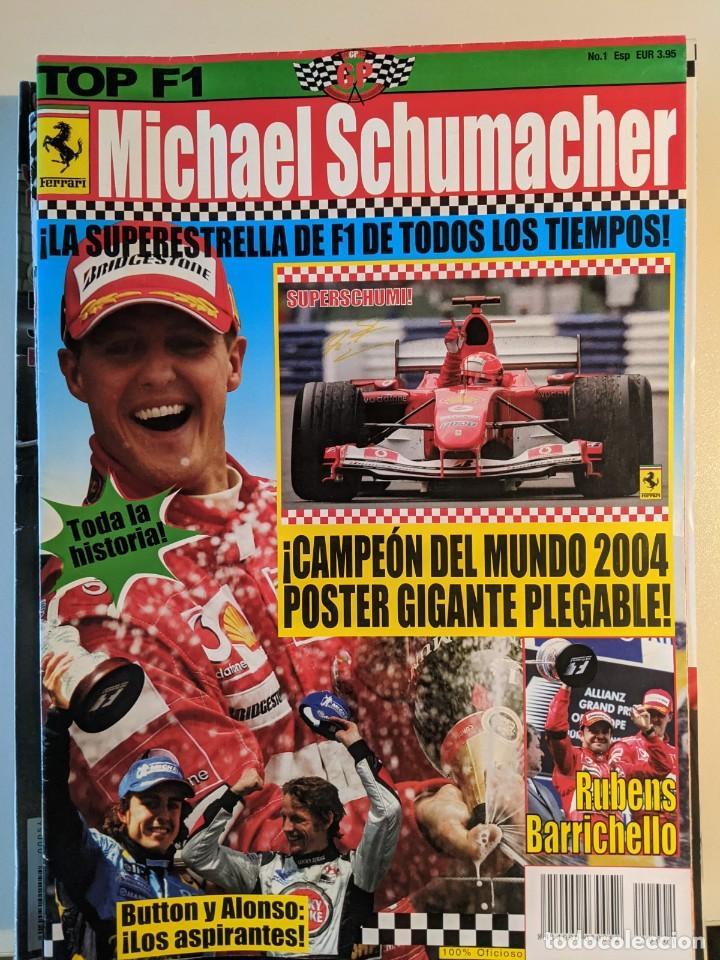 Coleccionismo deportivo: MICHEL SCHUMACHER 2004 - POSTER GIGANTE DE 60 X 80 - FERRRARI SIMPLEMENTE EL MEJOR - TOP F1 - Foto 2 - 230724335