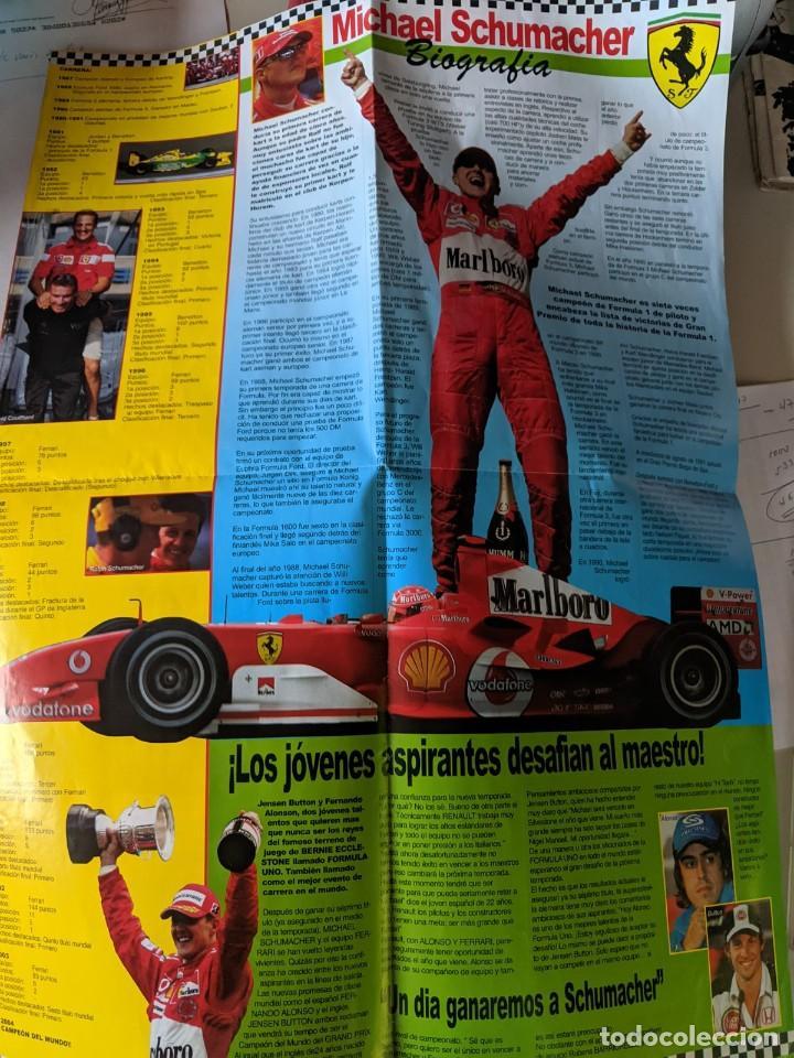 Coleccionismo deportivo: MICHEL SCHUMACHER 2004 - POSTER GIGANTE DE 60 X 80 - FERRRARI SIMPLEMENTE EL MEJOR - TOP F1 - Foto 3 - 230724335
