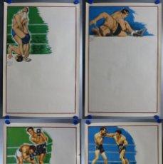 Coleccionismo deportivo: BOXEO Y LUCHA LIBRE - 4 CARTELES LITOGRAFICOS DEL AÑO 1963 - VER FOTOS ADICIONALES. Lote 234486760