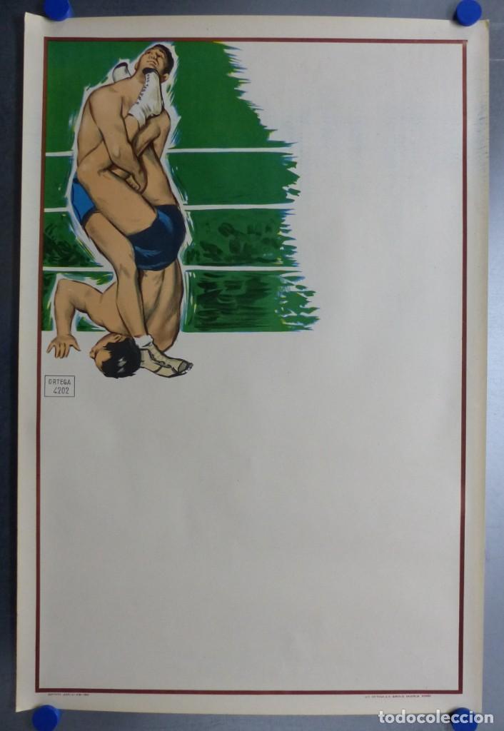 Coleccionismo deportivo: BOXEO Y LUCHA LIBRE - 4 CARTELES LITOGRAFICOS DEL AÑO 1963 - VER FOTOS ADICIONALES - Foto 2 - 234486760
