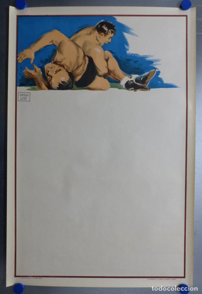 Coleccionismo deportivo: BOXEO Y LUCHA LIBRE - 4 CARTELES LITOGRAFICOS DEL AÑO 1963 - VER FOTOS ADICIONALES - Foto 8 - 234486760
