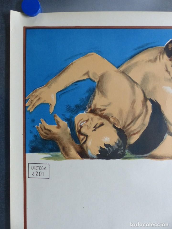 Coleccionismo deportivo: BOXEO Y LUCHA LIBRE - 4 CARTELES LITOGRAFICOS DEL AÑO 1963 - VER FOTOS ADICIONALES - Foto 11 - 234486760