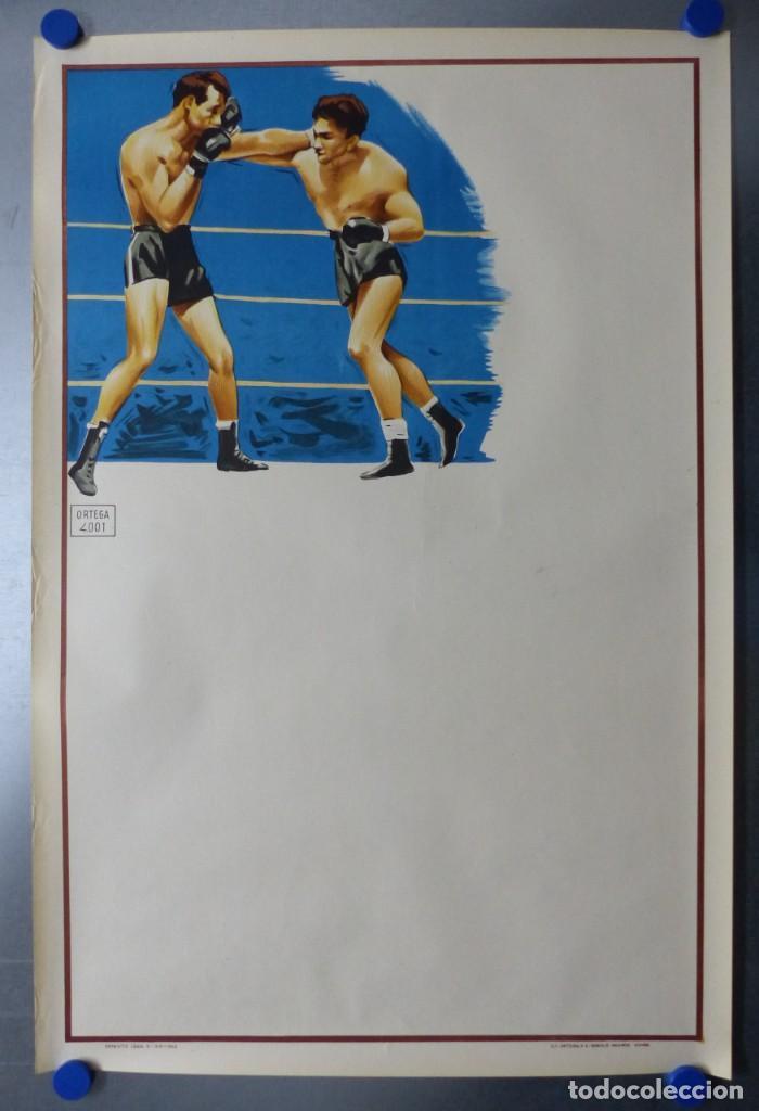 Coleccionismo deportivo: BOXEO Y LUCHA LIBRE - 4 CARTELES LITOGRAFICOS DEL AÑO 1963 - VER FOTOS ADICIONALES - Foto 14 - 234486760