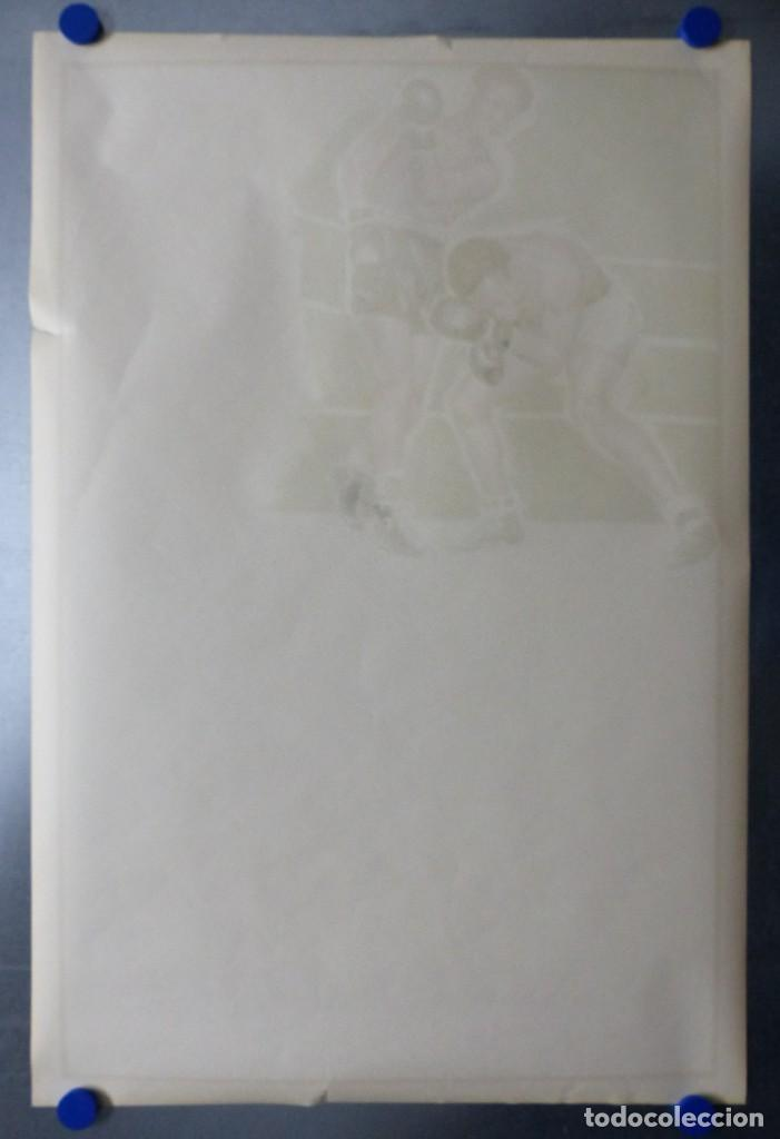 Coleccionismo deportivo: BOXEO Y LUCHA LIBRE - 4 CARTELES LITOGRAFICOS DEL AÑO 1963 - VER FOTOS ADICIONALES - Foto 32 - 234486760