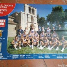 Coleccionismo deportivo: POSTER TAUGRES BASKONIA TEMPORADA 1992 - 1993. Lote 235223340
