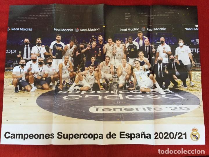 CARTEL POSTER REAL MADRID BALONCESTO CAMPEONES SUPERCOPA ESPAÑA 2020 2021 (Coleccionismo Deportivo - Carteles otros Deportes)