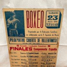 Coleccionismo deportivo: CARTEL ENMARCADO SOBRE TABLA - JOSÉ DIRAN BOXEO. Lote 237676860
