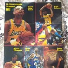 Coleccionismo deportivo: SUPER BASKET POSTERS PACK - ESPECIAL SHOWTIME LAKERS DE LOS 80 (10 POSTERS). Lote 238126245