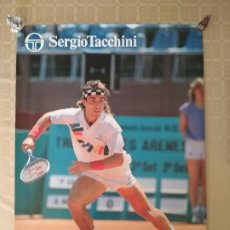 Coleccionismo deportivo: POSTER TENIS VINTAGE PAT CASH AUSTRALIA CAMPEON WIMBLEDON 1987 PUBLICIDAD SERGIO TACCHINI. Lote 238234130